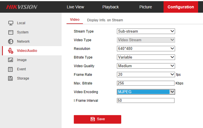 Hikvison sub camera stream | IP CCTV Forum for IP Video, network