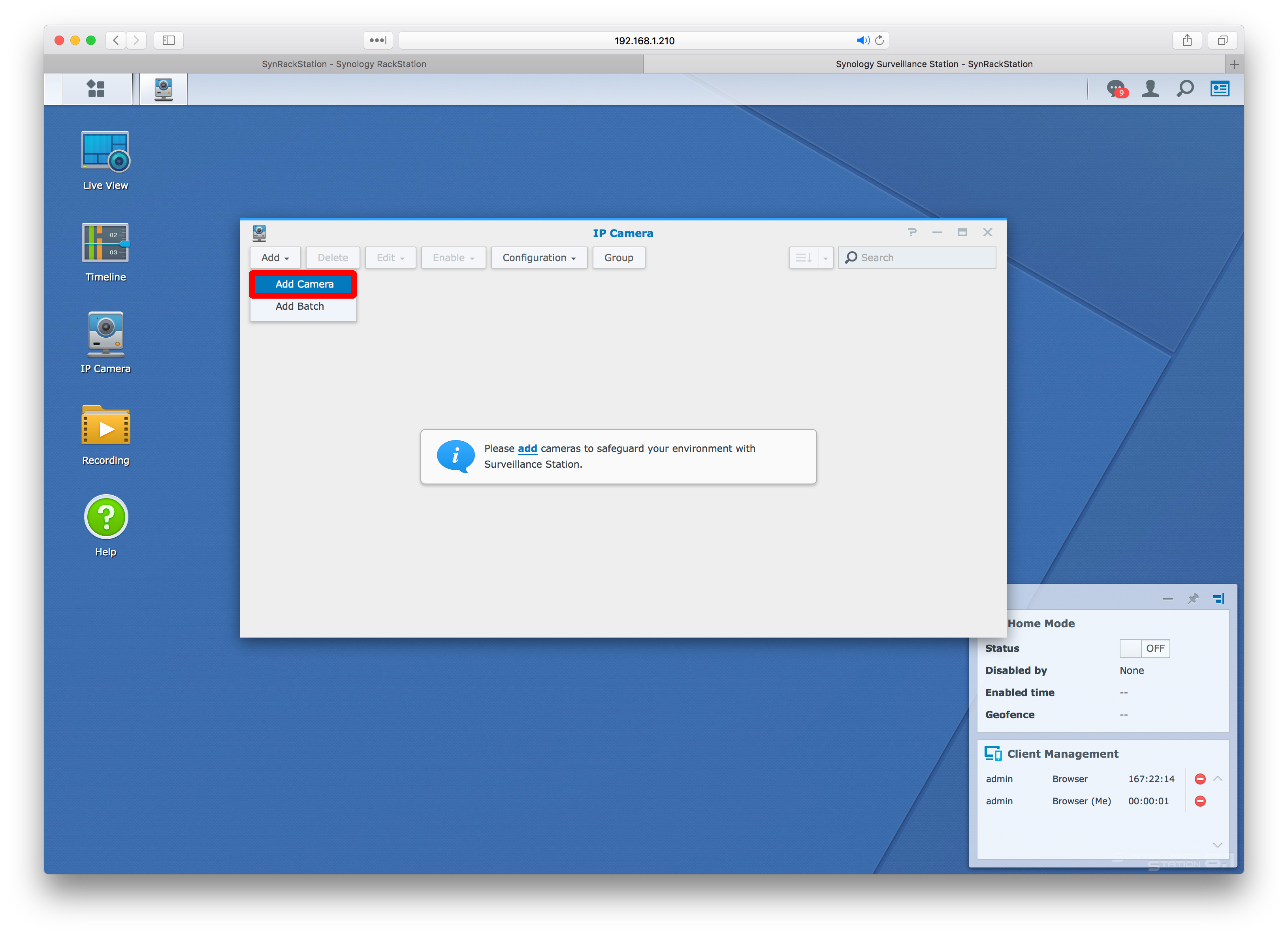 How To Install Synology Surveillance Station and Add an IP