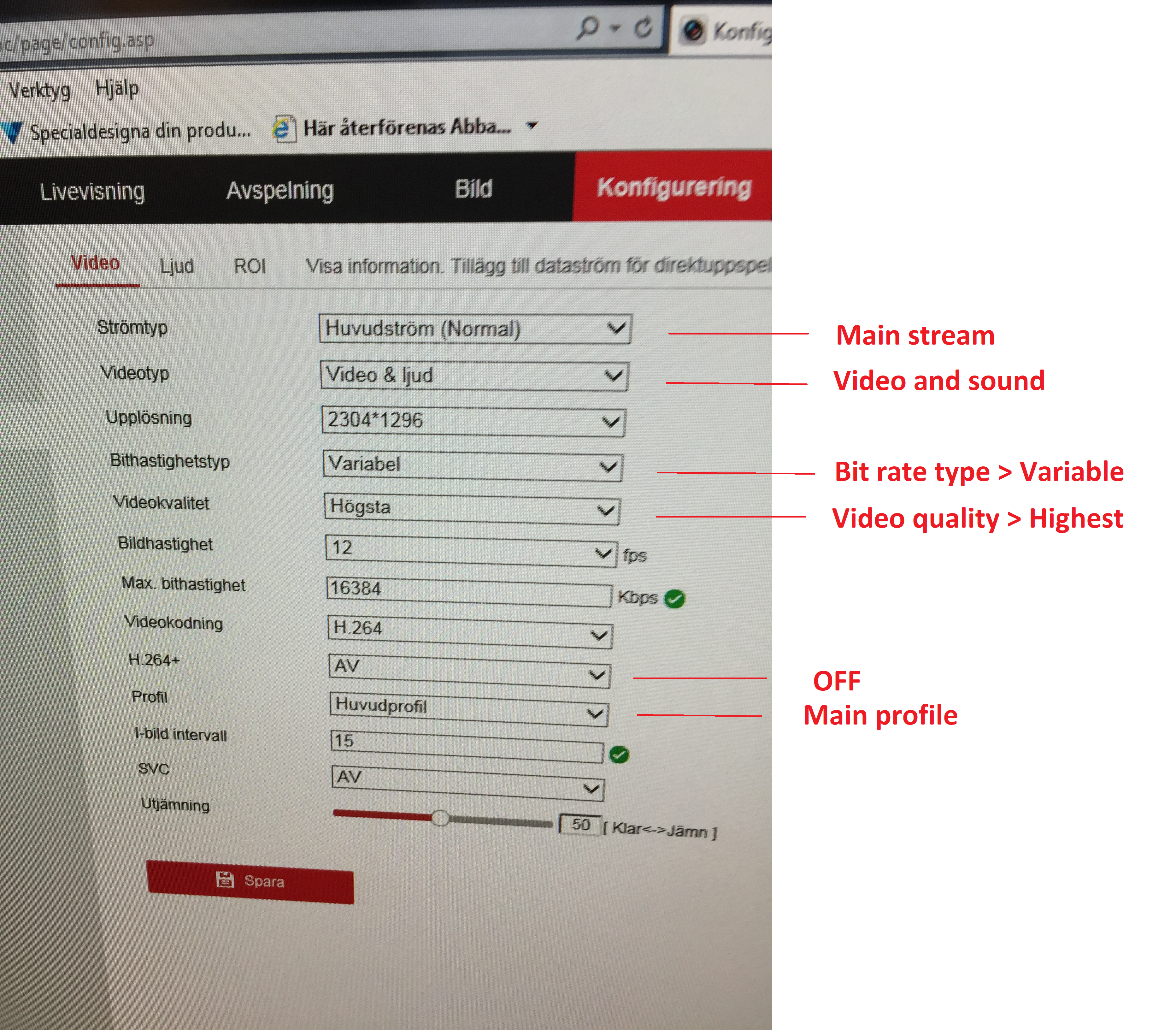 Hikvision camera losing its main stream settings (after