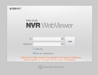 Wisenet NVR WebViewer | IP CCTV Forum for IP Video, network
