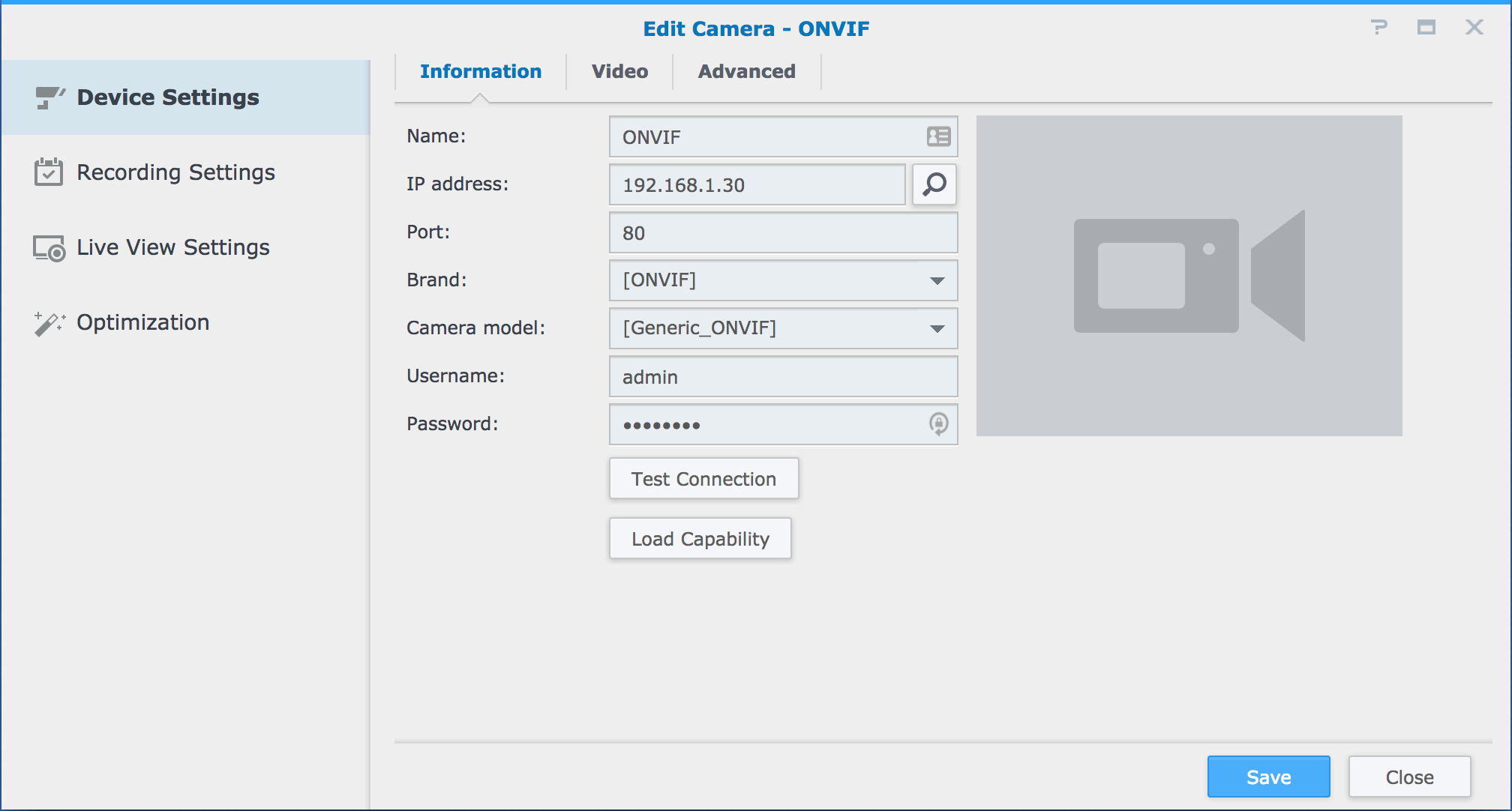 How To Change the Camera Settings and Record Settings of an