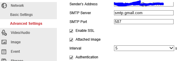 Missing attachments for email notifications Hikvision DS