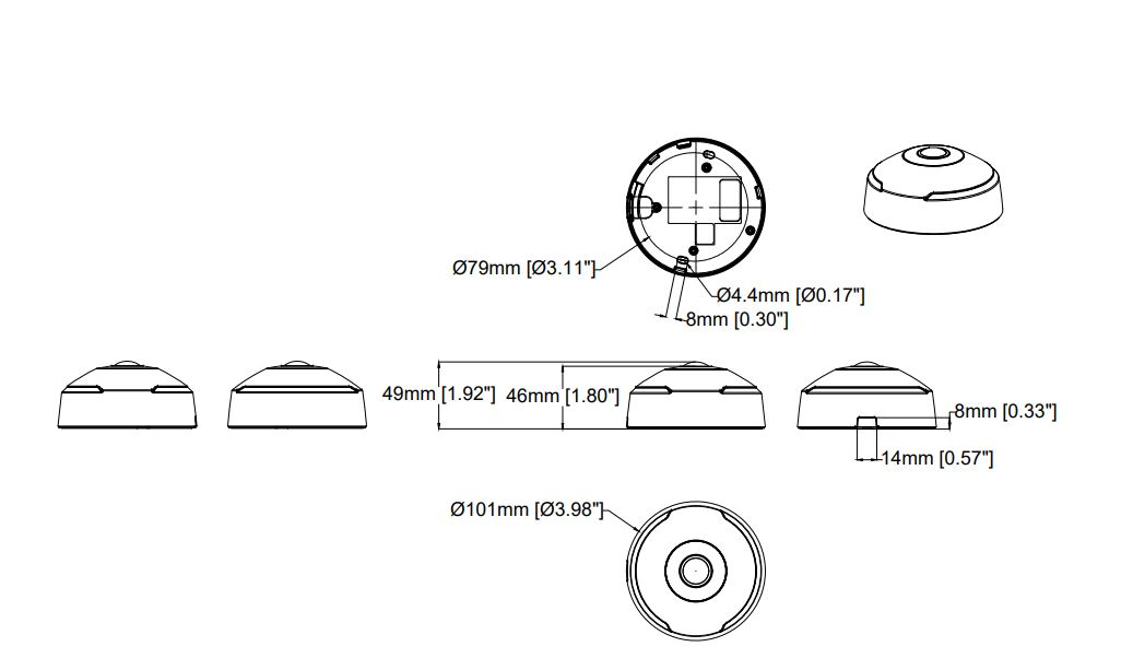 Axis M3067-P Dimensions