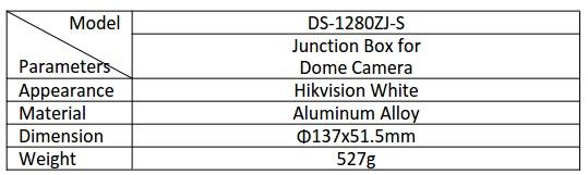 Hikvision DS-1280ZJ-S Bracket