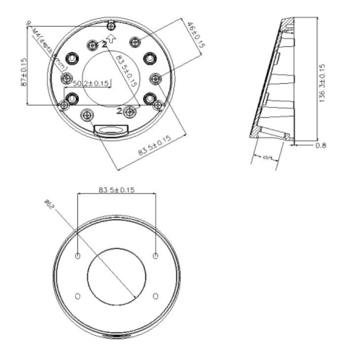 DS-1281ZJ-DM23 dimensions