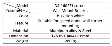 Hikvision DS-1602ZJ-CORNER Wall Mount Corner Bracket