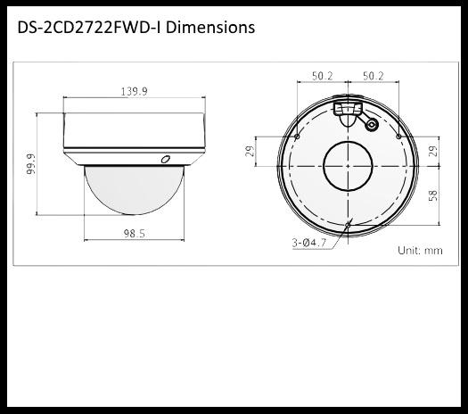 Hikvision DS-2CD2722F-IZS 2MP Varifocal IR Dome Network Camera