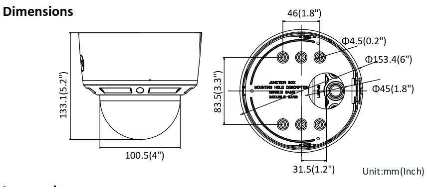 Hikvision DS-2CD2785G0-IZS Dimensions
