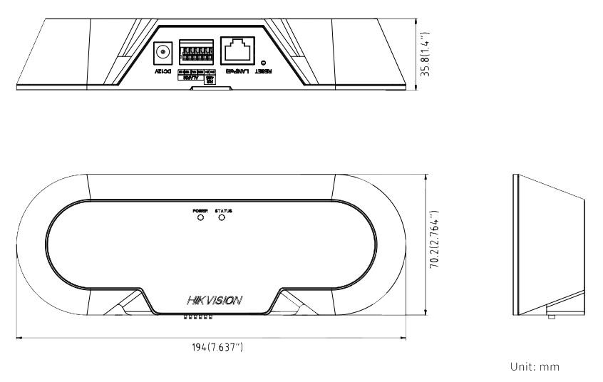 iDES-6810F/C dimensions