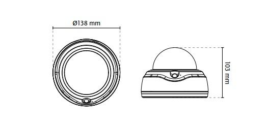 Vivotek FD816B-HF2 Fixed Dome Network Camera