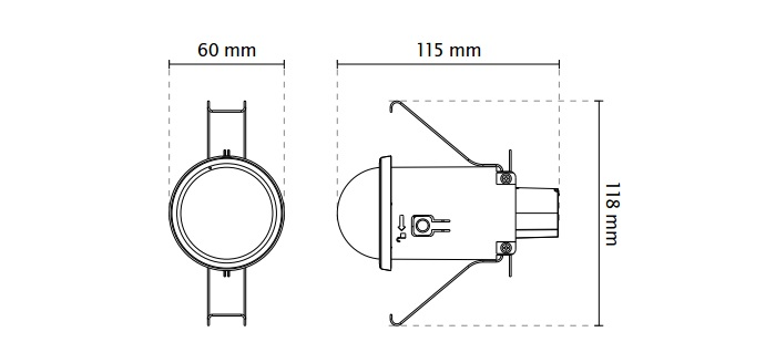 Vivotek FD816C-HF2 Recessed Fixed Dome Network Camera