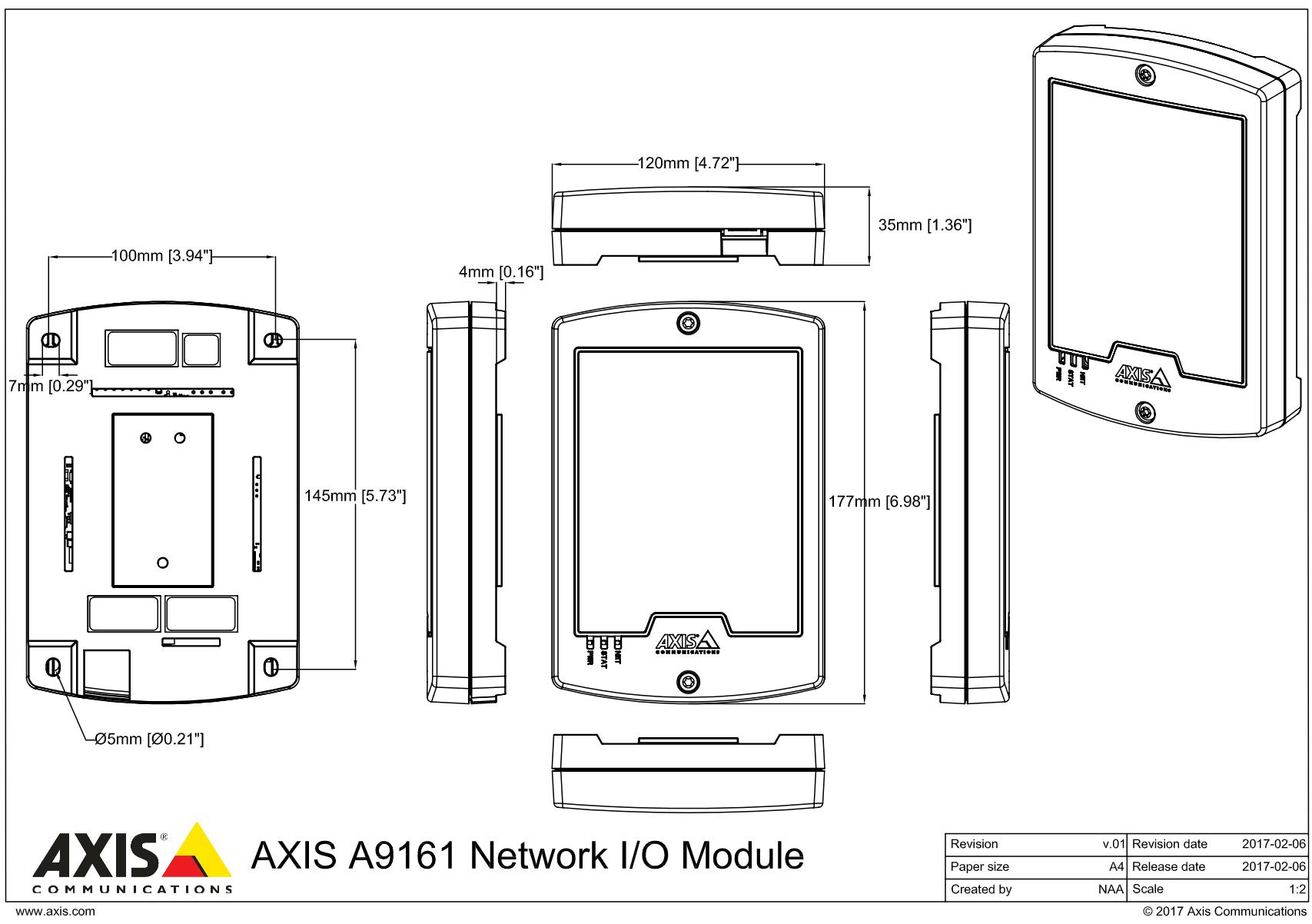 A9161 dimensions