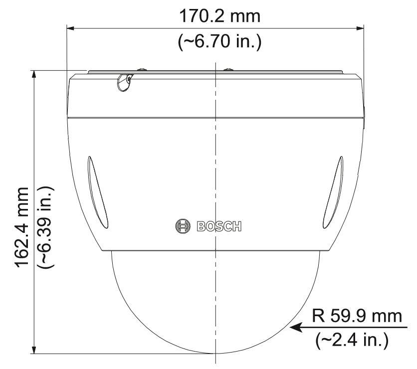 Bosch NEZ-4212-PPCW4 Dimensions