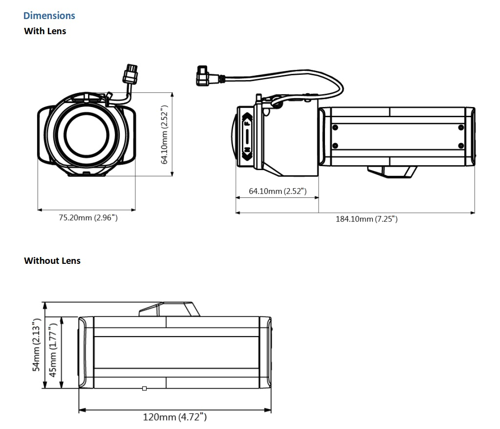 Geovision GV-BX12201 Dimensions