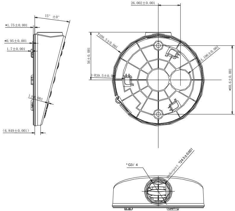 DS-1281ZJ-DM27 Dimensions