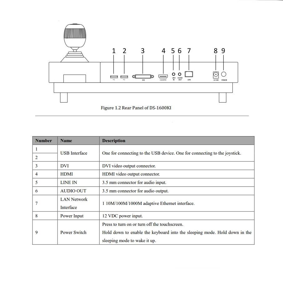 Hikvision DS-1600KI Keyboard