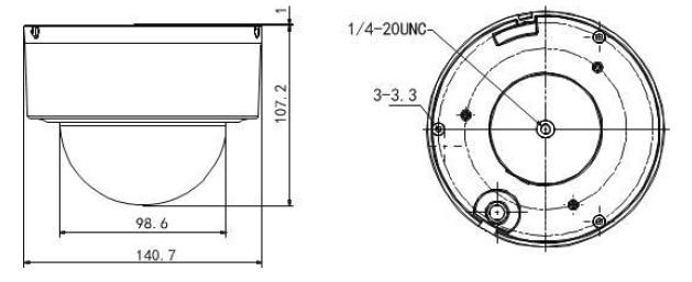 DS-2DE3204W-DE Dimensions