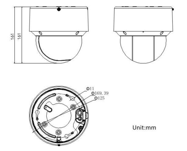 DS-2DE4A220IW-DE dimensions