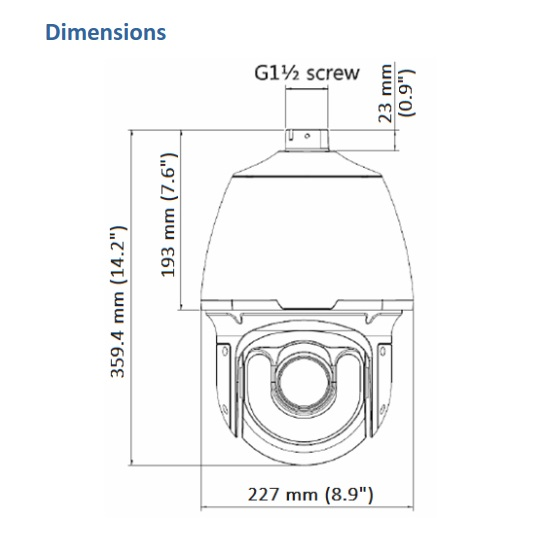 Geovision GV-SD2322-IR Dimensions