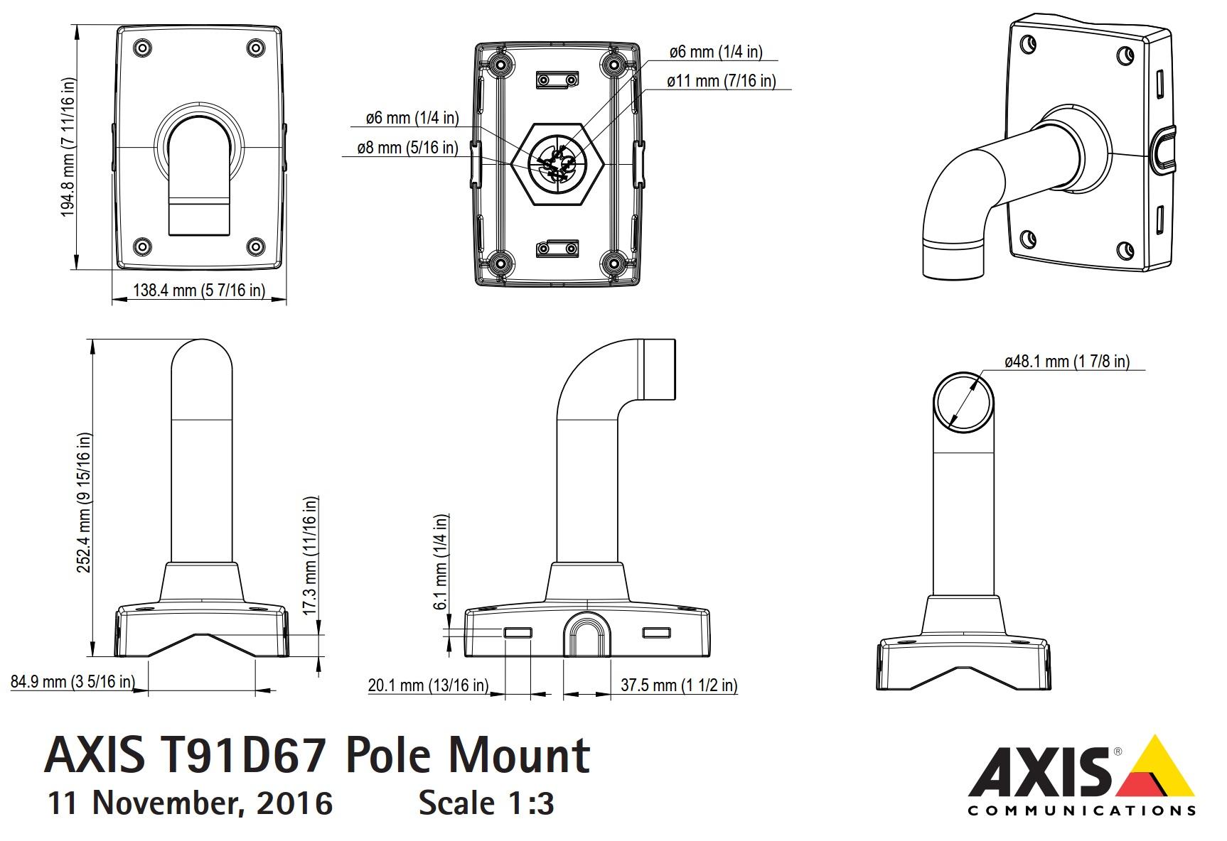 T91D67 Dimensions
