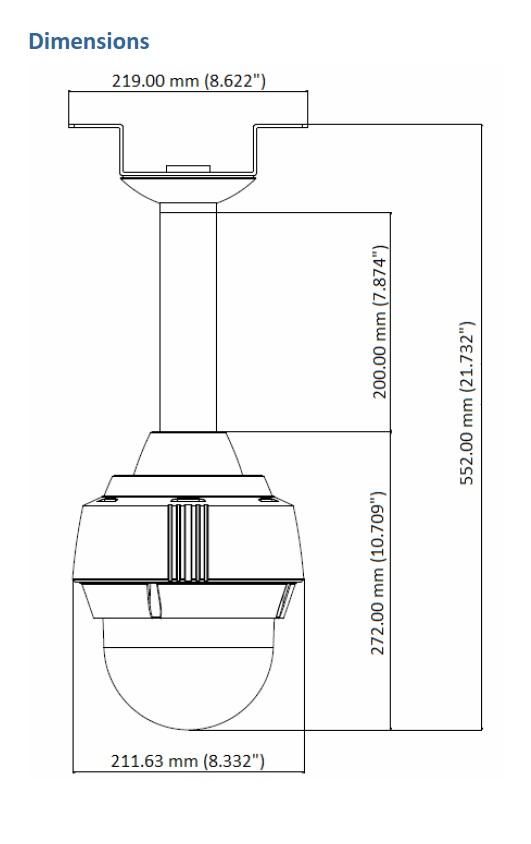 Geovision GV-PPTZ7300 Dimensions