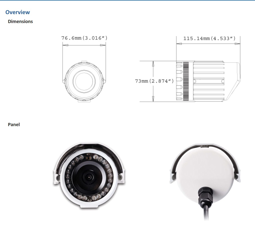 Geovision GV-EBL2100 Dimensions