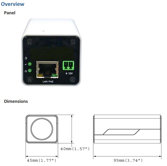 Geovision GV-EBX1100 Dimensions