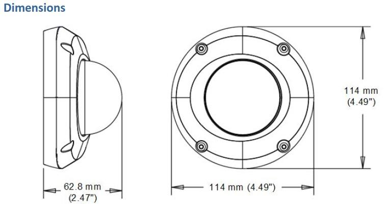 Geovision GV-EDR2100 Dimensions