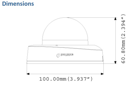 Geovision GV-EFD2100 Dimensions