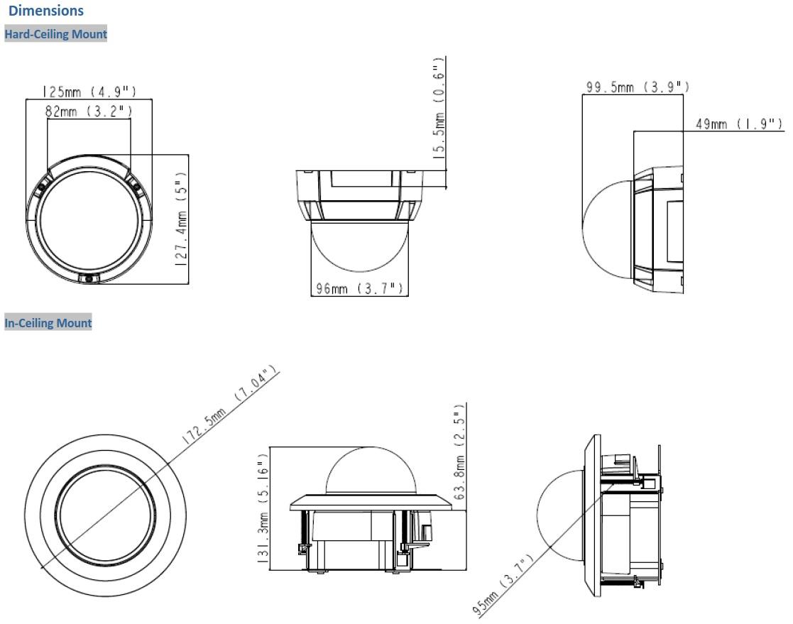Geovision GV-EFD2101 Dimensions