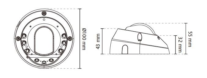 Vivotek FD8152V-F4 Fixed Dome Network Camera White
