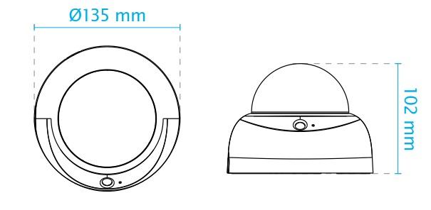 FD816BA-HF2 dimensions