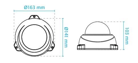 FD836BA-HTV dimensions