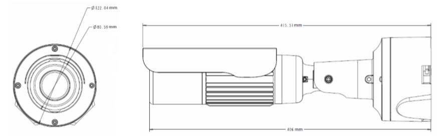 GV-BL2702 dimensions