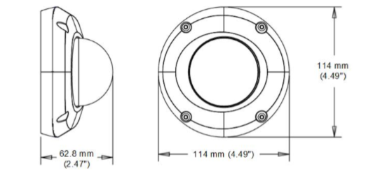 GV-EDR2700 dimensions