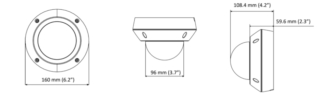 GV-VD8700 dimensions