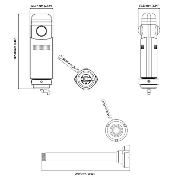 GV-VR360 dimensions