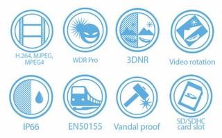 Vivotek MD8531H-F4 1.2MP Mobile Dome Network Camera