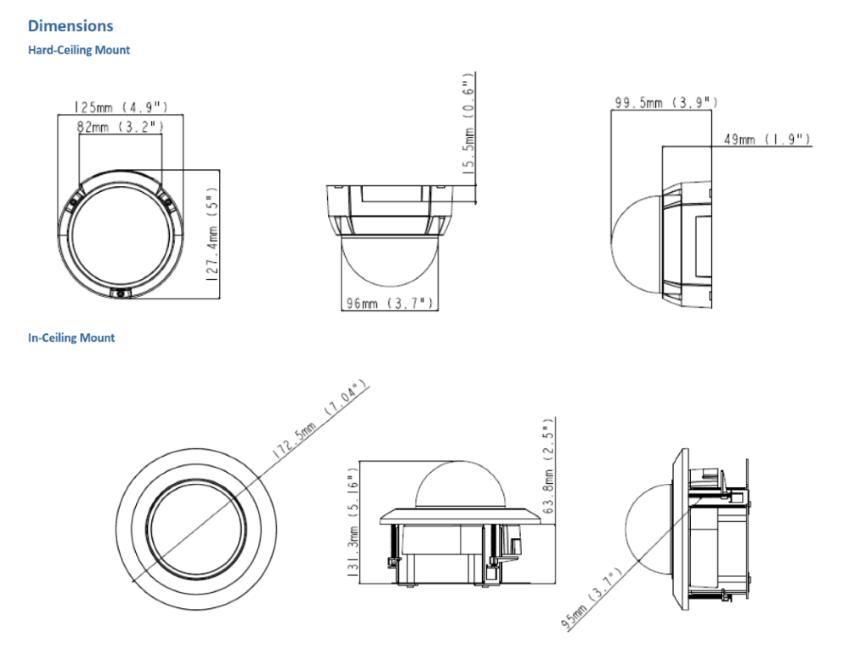 MD8710-FD Dimensions
