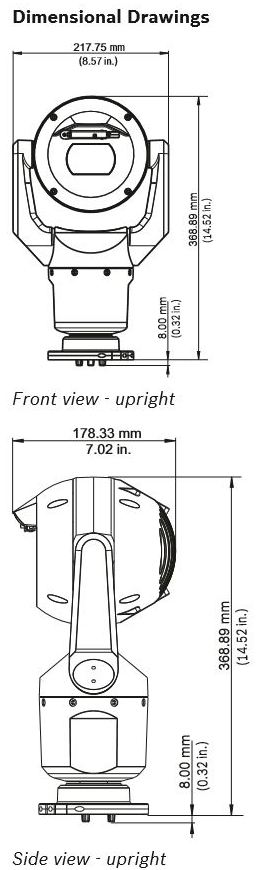 Bosch MIC-7130-PB4 Dimensions