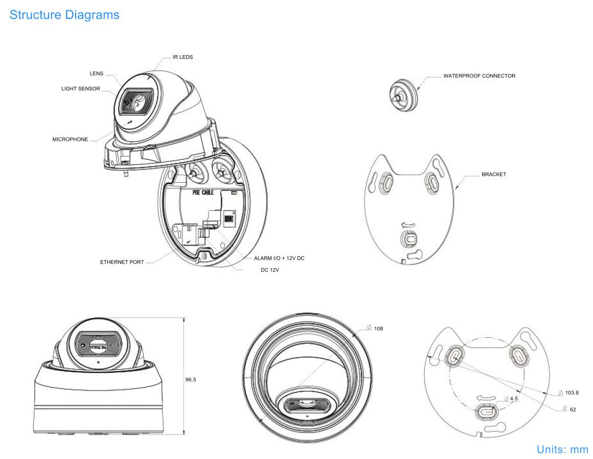 AF Mini Dome Dimensions