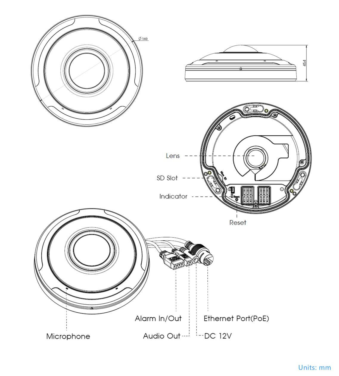 Milesight Fisheye Dimensions