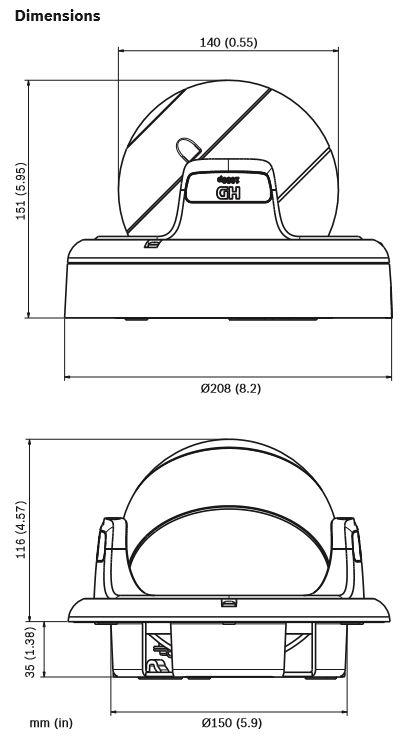 Bosch NDN-733V09-P Dimensions