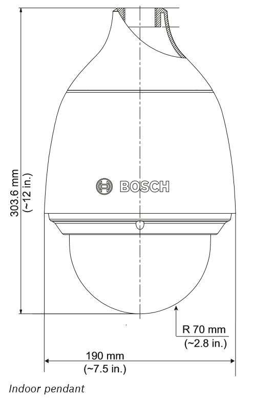 Bosch NEZ-5230-PPCW4 Dimensions