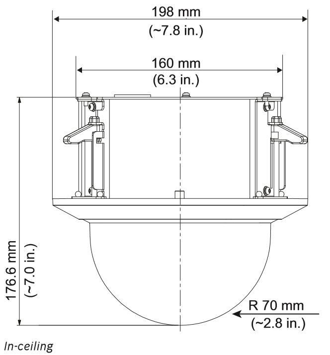 Bosch NEZ-5230-CPCW4 Dimensions