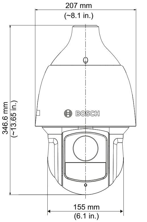 Bosch NEZ-5130-IRCW4 Dimensions