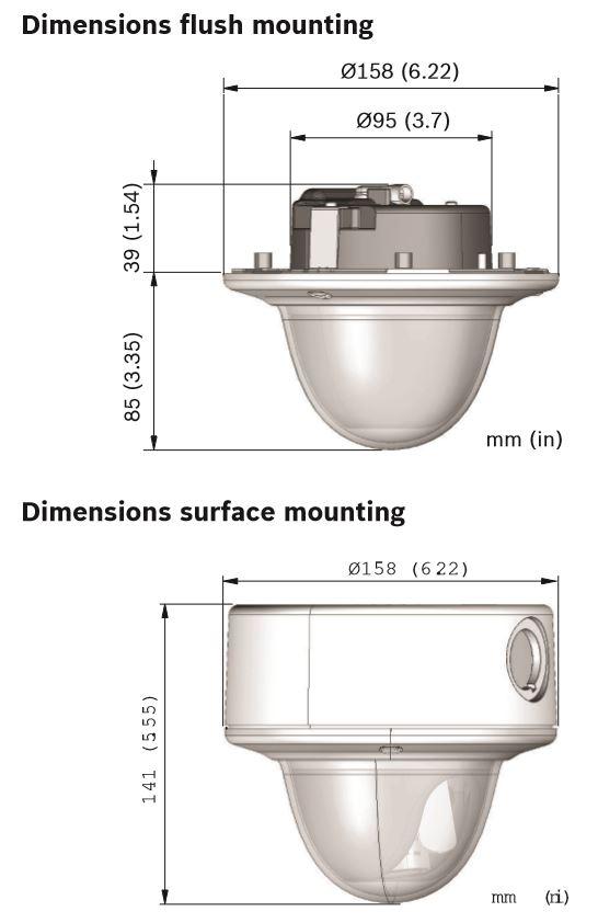 Bosch NIN-63023-A3 Dimensions