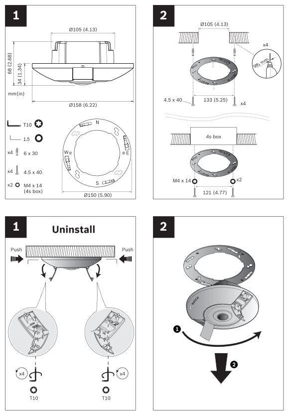 Bosch NIN-70122-F0 Quick Install