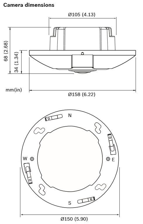 Bosch NIN-70122-F0 Dimensions
