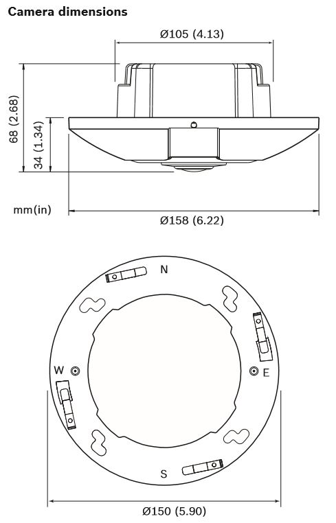 Bosch NIN-70122-F0S Dimensions